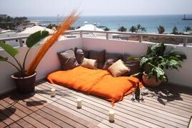 Property Photo: Daybed & sea views