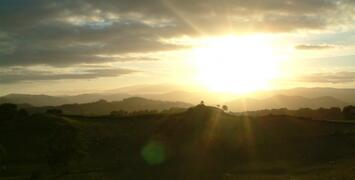 Sun Set over the Tanat Valley