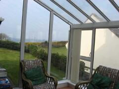 conservatory with sea view