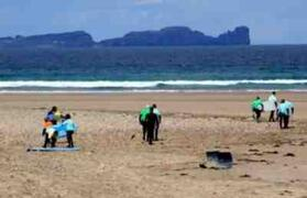 Surfing at Tramore beach