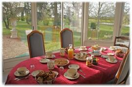 Breakfasts in the conservatory