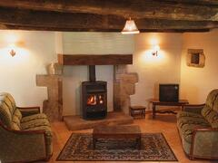Cosy Living area with wood-burner