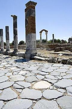 Old roman street close Formia