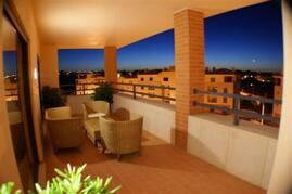 Property Photo: Casual seating On The Large Balcony
