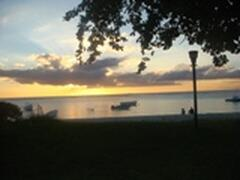 sunset is stunning in trou aux biches