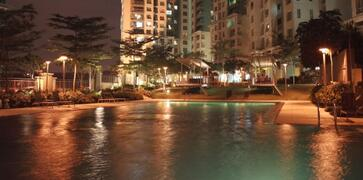 Property Photo: Night view at Swimming Pool 2