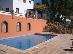 Accommodation and pool
