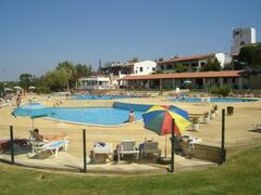 Camping Albufeira pool area and bars