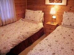 The comfortable twin bedroom
