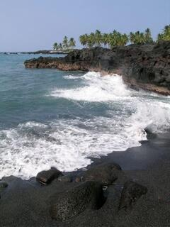 Honomalino Black Sand Beach