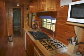 the well equipped kitchen area