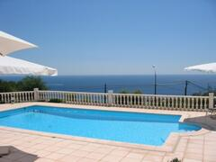 Property Photo: Pool and seaviews