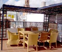 Roof terrace furniture.