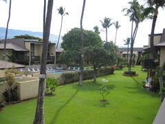 Property Photo: View From Lanai Overlooking Pool and Grounds
