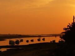 Sunset in  Ría Formosa
