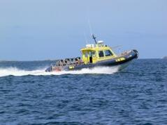 One of the high speed boats that serve Bryher