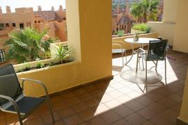 Private terrace:- The double terrace is very spacious and there is ample room for the kids to play.