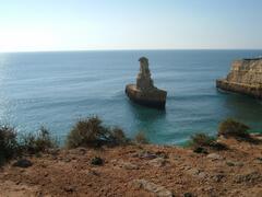 Battleship Rock on cliff top walk nearby