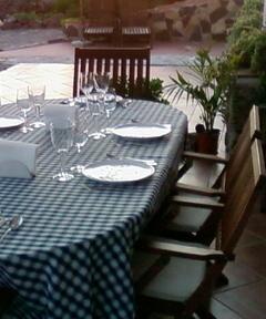 Sunshine dinner at house