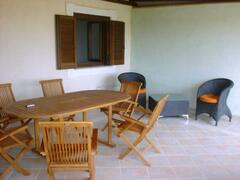 Large terrace with table and chairs to relax on those balmy evenings with a long cool drink