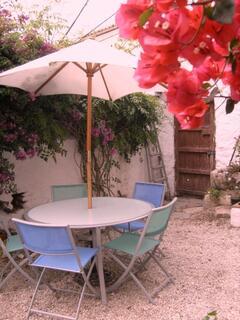 Outside patio area