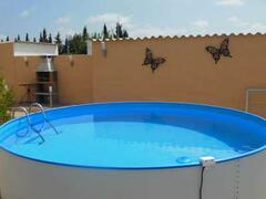 the splash pool to cool down in
