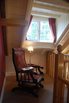 Relax with a book on the landing