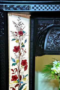 Original fireplace in bedroom