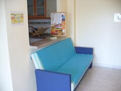 Single sofa bed in living room