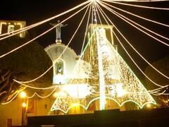 Christmas decorations in Almoradi square