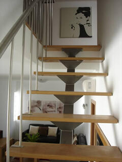 Stairs to games room