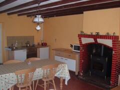 Country Kitchen with Log Burner