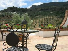 Property Photo: The terrace overlooking the Valley beyond
