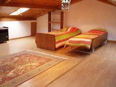 twin bed attic