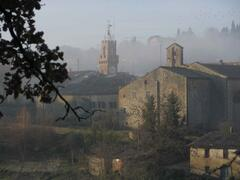 Property Photo: Medieval Asciano in the early hours of the morning - only 5 minutes walk from the apartment.