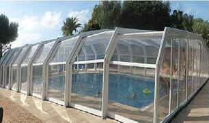 All year round pool covered and heated in winter months