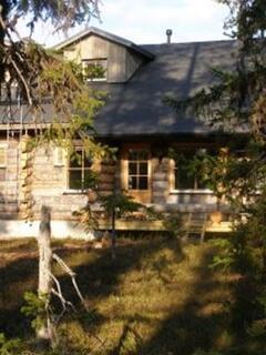 The cabin veranda