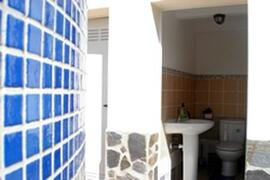 bathroom and shower by the swimming pool