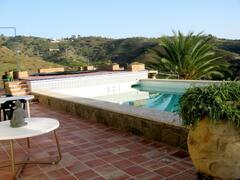 swimming pool with salted water by the house and apartment-guest house