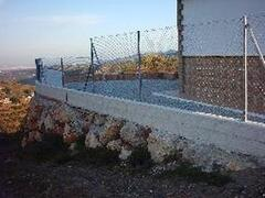 fenced villa´s area