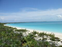 Pigeon Cay Beach-looking toward our house