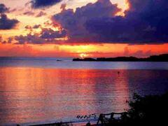 Sunset on Cat Island