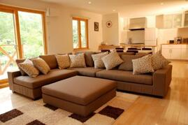 Country Resort Chalet Living Area - 3 Bed