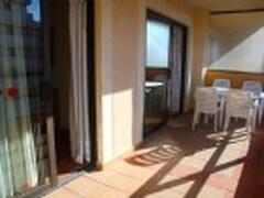 Very spacious balcony with sea views
