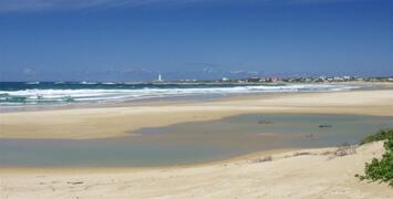 A beach as far as you can see