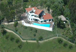 Property Photo: Aerial View of the villa