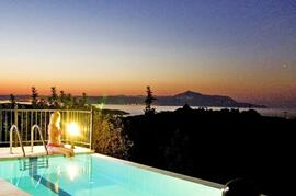 Property Photo: Evening view towards Almyrida and Souda Bay