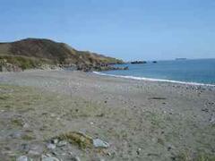 Roseneithon Beach, the 'secret beach' 10mins walk away.  Shh, don't tell anyone!