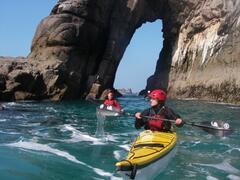 Kayak around spectacular areas of otherwise unreachable coastline
