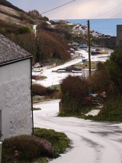 Porthoustock in winter